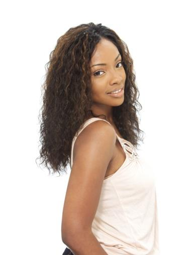 High Quality Brown Curly Long African American Wigs