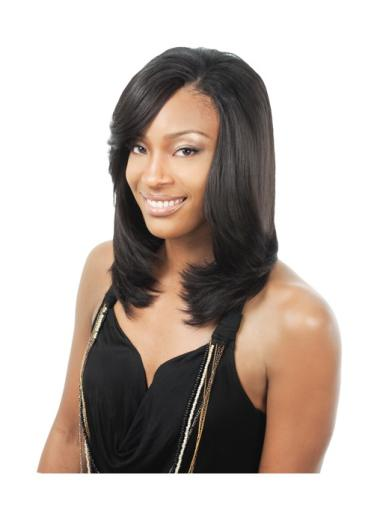 Great Black Straight Shoulder Length African American Wigs