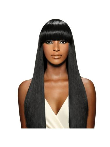 Designed Black Straight Long African American Wigs