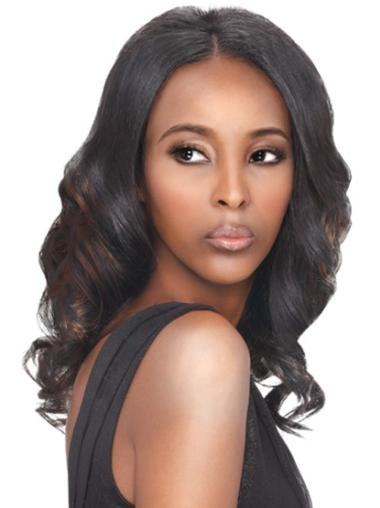 Top Brown Wavy Long African American Wigs
