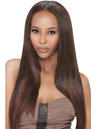 Popular Auburn Straight Long African American Wigs