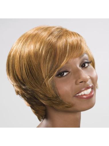 Short Straight No-fuss Human Hair Wigs