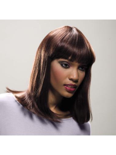 Medium Straight Monofilament Ideal Human Hair Wigs