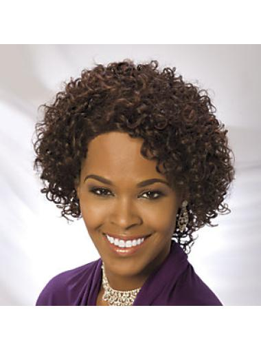 Short Curly Lace Front Suitable Human Hair Wigs