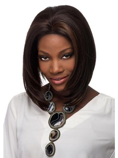 Brown Glamorous Straight Lace Front Medium Wigs