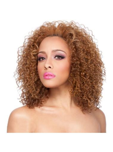 Graceful Auburn Curly Shoulder Length African American Wigs