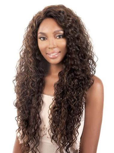 Great Brown Curly Long African American Wigs