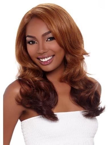 Comfortable Auburn Wavy Long African American Wigs
