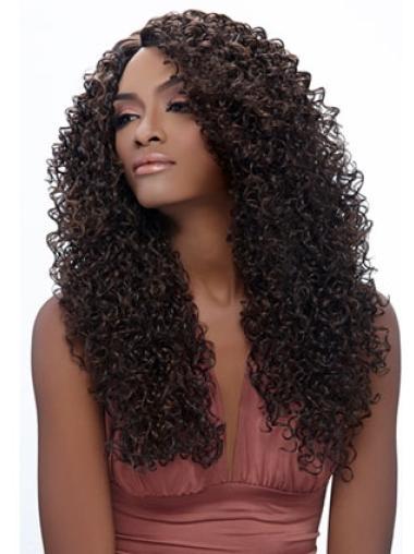 Nice Brown Curly Long African American Wigs