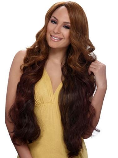 Style Auburn Wavy Long African American Wigs