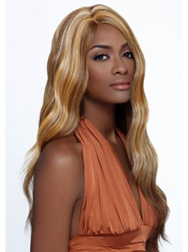 Stylish Blonde Wavy Long African American Wigs