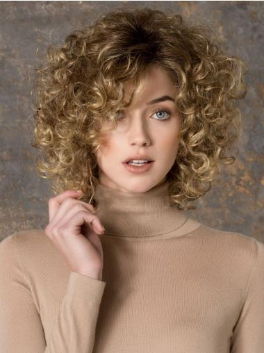 Braw Blonde Curly Synthetic Long Wigs