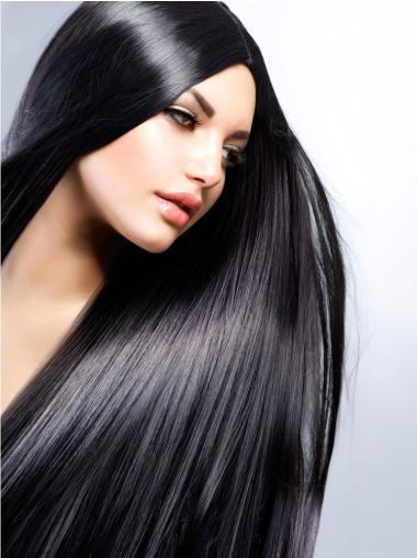 Full Lace Straight Designed Black Wigs