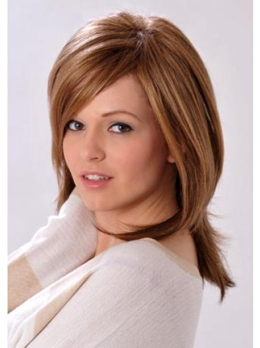 Fabulous Brown Straight Shoulder Length Synthetic Wigs