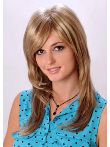 Easy Blonde Monofilament Synthetic Long Wigs