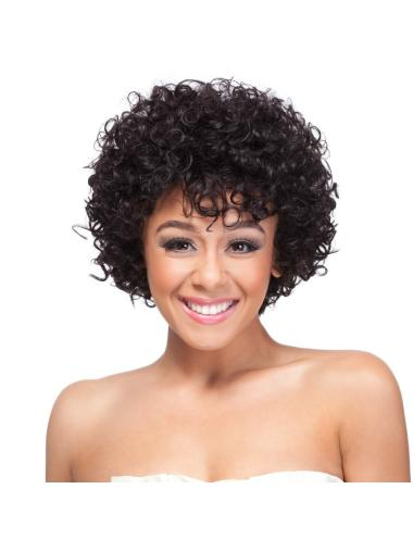 Fashionable Black Curly Short Synthetic Wigs
