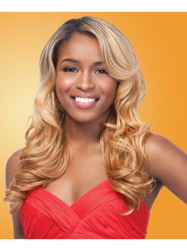 Easeful Blonde Wavy Long African American Wigs