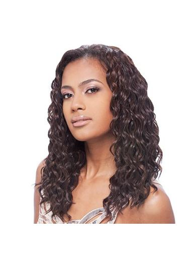 Modern Brown Curly Long African American Wigs