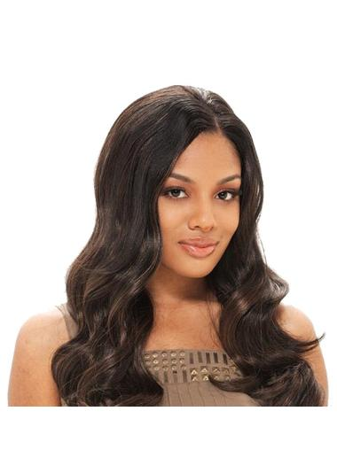 No-fuss Brown Wavy Long Glueless Full Lace Wigs