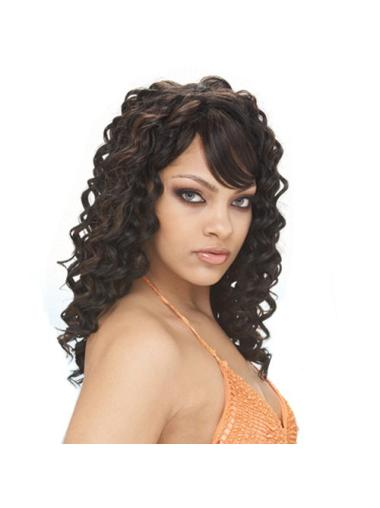 Black Curly Long African American Wigs