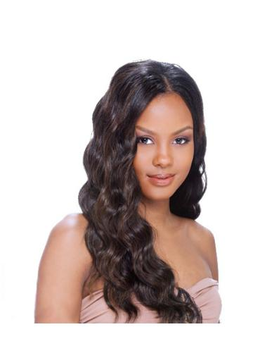 Cosy Brown Wavy Long African American Wigs