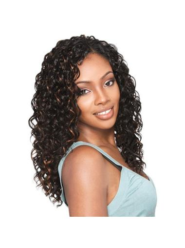Gorgeous Brown Curly Long African American Wigs