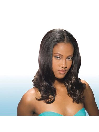 Natural Brown Wavy Long Glueless Full Lace Wigs