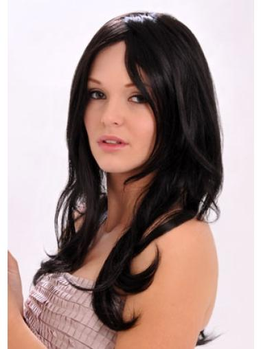 Style Black Monofilament Synthetic Long Wigs