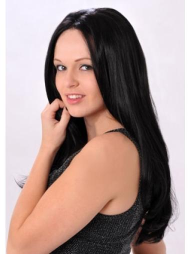 Trendy Black Lace Front Synthetic Long Wigs