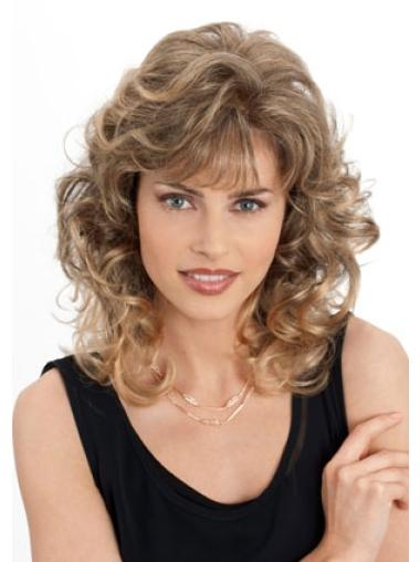 Ideal Blonde Wavy Shoulder Length Classic Wigs