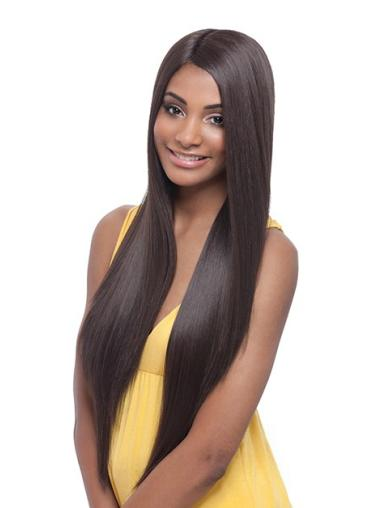 Exquisite Synthetic Lace Front Straight Long Wigs