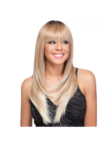 Impressive Blonde Straight Long Celebrity Wigs