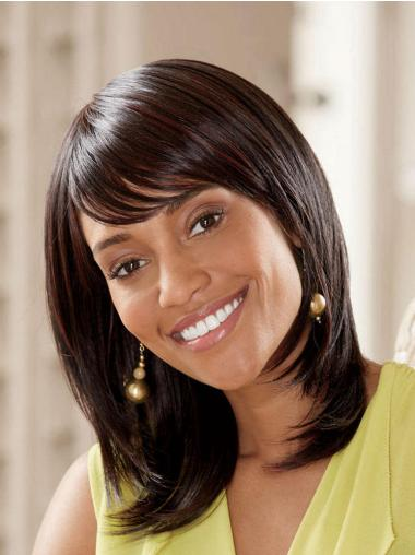 Durable Synthetic Lace Front Straight Long Wigs