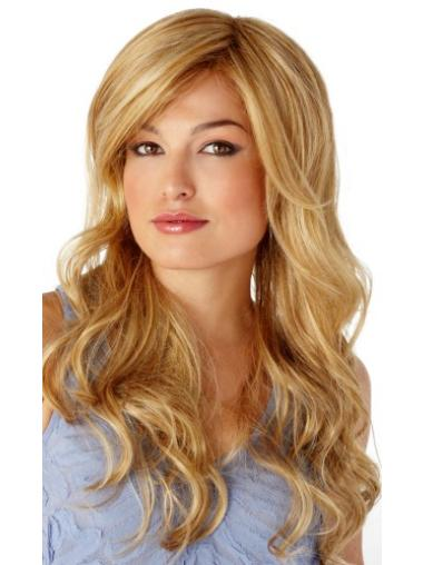 Comfortable Synthetic Blonde Wavy Long Wigs