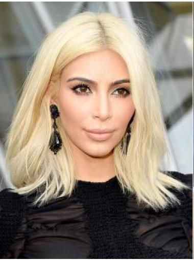 Kim Kardashian Wigslace Front 14 Straight Blonde Shoulder Length