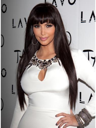 Beautiful Lace Front Straight Long Kim Kardashian Wigs