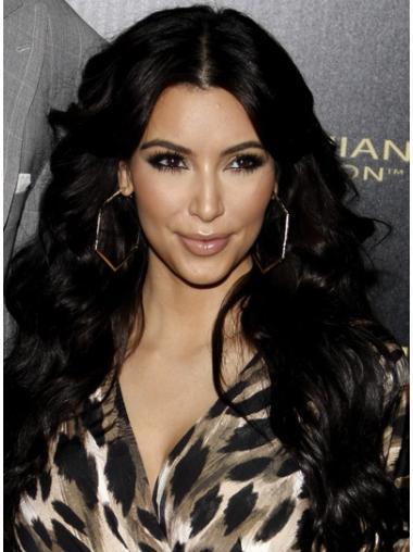 Traditiona Black Wavy Long Kim Kardashian Wigs