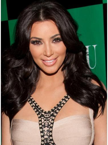Mature Black Wavy Long Kim Kardashian Wigs Kim Kardashian Real Hair