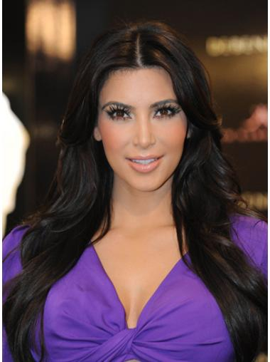 Glamorous Black Straight Long Kim Kardashian Wigs