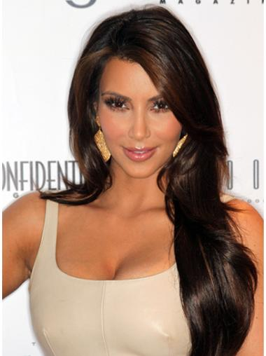 Amazing Brown Wavy Long Kim Kardashian Wigs