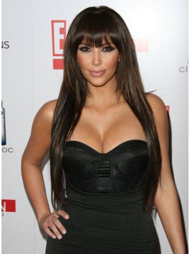 Lace Front Straight Long Kim Kardashian Wigs
