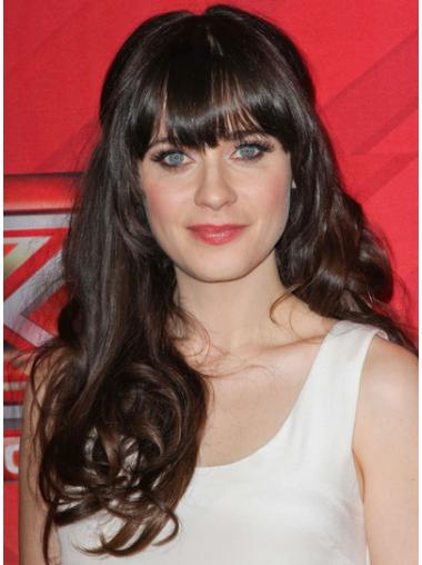 Gentle Brown Curly Long Celebrity Wigs