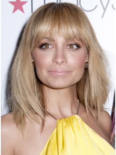 Easy Blonde Lace Front Shoulder Length Celebrity Wigs
