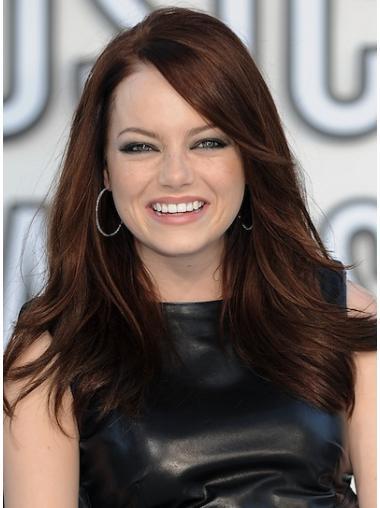 Gorgeous Auburn Wavy Long Celebrity Wigs