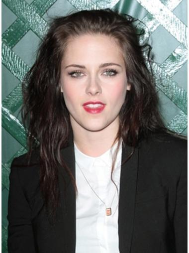 Impressive Lace Front Wavy Shoulder Length Celebrity Wigs
