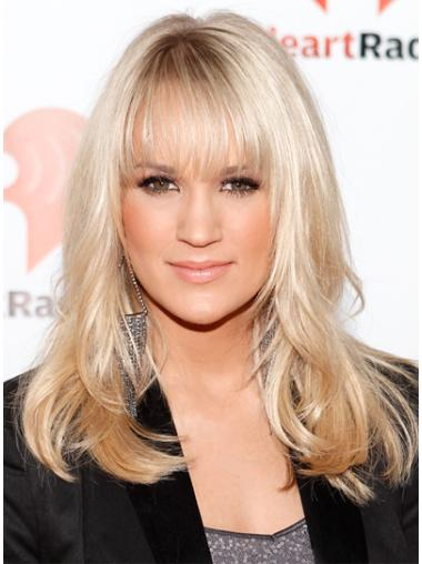 Beautiful Blonde Wavy Shoulder Length Celebrity Wigs