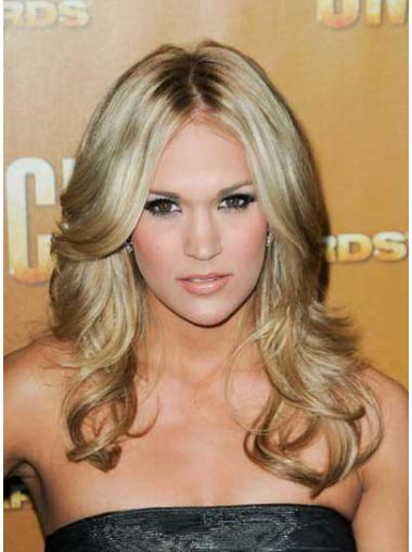 Easeful Blonde Wavy Long Celebrity Wigs