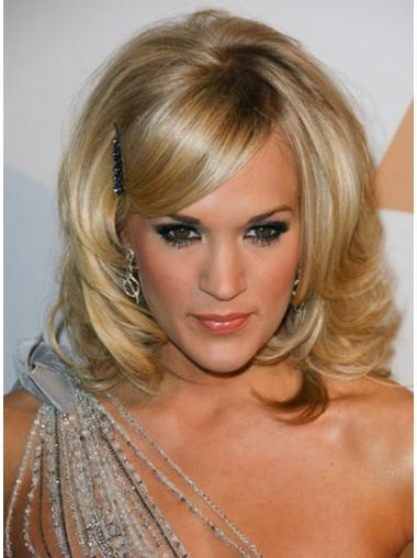 New Blonde Curly Shoulder Length Celebrity Wigs