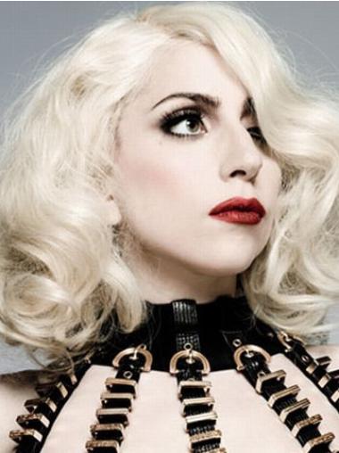 Sassy Curly Shoulder Length Lady Gaga Wigs Lady Gaga