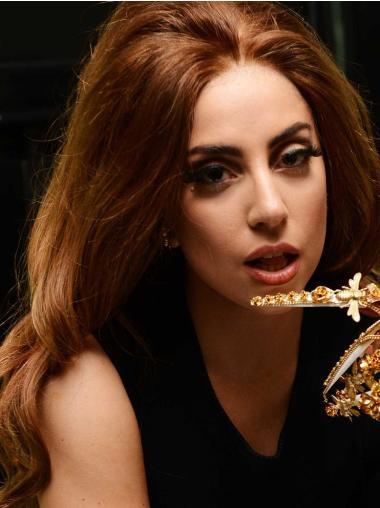 Good Auburn Wavy Long Lady Gaga Wigs